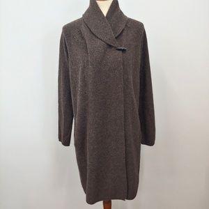 ADRIENNE VITADINI Cardigan Duster Wool, Yak, Sz M